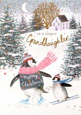 To a Wonderful Granddaughter Christmas Card - Louise Tiler