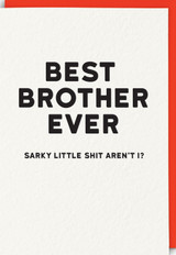 Best Brother Ever | Greeting Card | Redback Cards