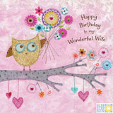 Wonderful Wife Greeting Card - Blue Eyed Sun