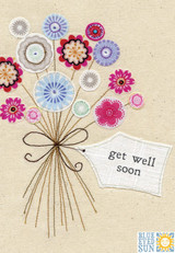 Flowers Get Well Greeting Card - Blue Eyed Sun