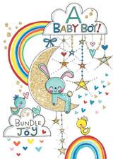 A Baby Boy! New Baby Greeting Cards - Rachel Ellen