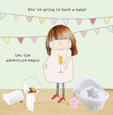 Baby Adventure New Baby Greeting Card - Rosie Made a Thing