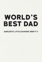 Worlds Best Dad Humour Card