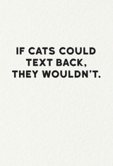 Holy Flop Greeting Card, If Cats Could text back
