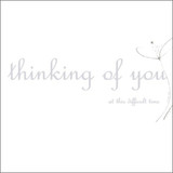 Hand Finished Thinking of you  Sympathy Card