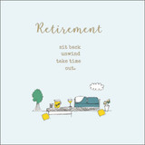 Hand Finished Retirement garden Card