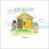 Hand Finished Birthday Garden Shed Card