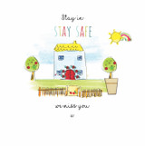 Hand Finished Stay Safe at home Card