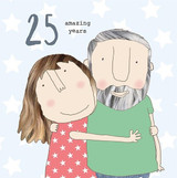 25th Anniversary Greeting Card - Rosie Made a Thing