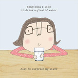 Surprise my Liver Birthday Card - Rosie Made a Thing
