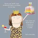 Celebrate for the whole month Birthday Card - Rosie Made a Thing