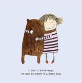 Bear Hug Greeting  Card - Rosie Made a Thing