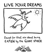 Live your dreams edward monkton greeting card