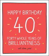 forty 40 Years  Birthday Card Happy Jackson - Pigment Productions
