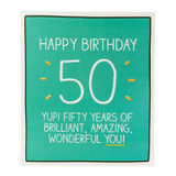 Fifty Years Birthday Card  Happy Jackson - Pigment Productions