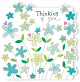 Thinking of You Flowers Greeting Cards  - Rachel Ellen