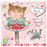Birthday Girl Fairy Birthday Cards Kids - Rachel Ellen