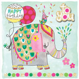 Birthday Elephant Birthday Cards Kids - Rachel Ellen