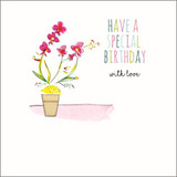 Hand Finished Special Floral Birthday Card