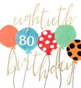 Eightieth Birthday Card 80th - Caroline Gardner