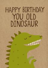 Old Dinosaur greeting Card - Stormy Knight