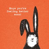 Better Soon Rabbit Birthday Card - The Paper Bird Company