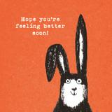 Better Soon Rabbit Birthday Card - The Paper Bird Company