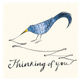Inky Thinking of You Sympathy  Card - The Paper Bird Company