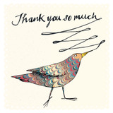 Thank You So Much Bird Greeting Card - The Paper Bird Company