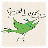 Good Luck Bird Greeting Card - The Paper Bird Company