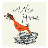 New Home Nest Greeting Card - The Paper Bird Company