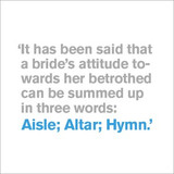 Aisle, Altar, Hymn