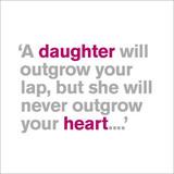 A Daughter Greeting Card | Lyric | Icon Art