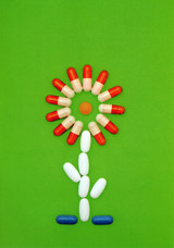 Pill Flower Get Well Greeting Card - Icon Art Company