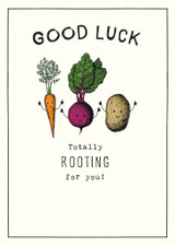 Rooting for you Greeting Card Etched - Pigment Productions