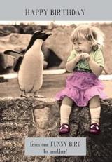 Funny Bird Midget Gem Birthday Card - Pigment Productions