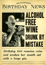 Alcohol Free Wine Birthday Card Fleet Street - Pigment Productions