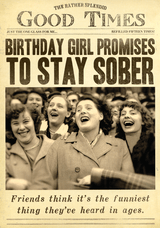 Stay Sober Birthday Card Fleet Street - Pigment Productions