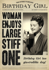 Stiff One Birthday Card Fleet Street - Pigment Productions