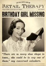 Birhtday Gir Missing Birthday Card Fleet Street - Pigment Productions