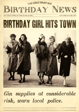 hit the Town Birthday Card Fleet Street - Pigment Productions