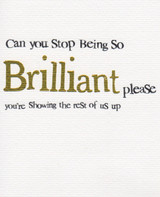 Stop Being Brilliant