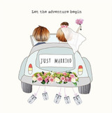 Let the Adventure Begin Wedding Card - Rosie Made a Thing