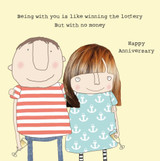Winning the Lottery Anniversary Card - Rosie Made a Thing