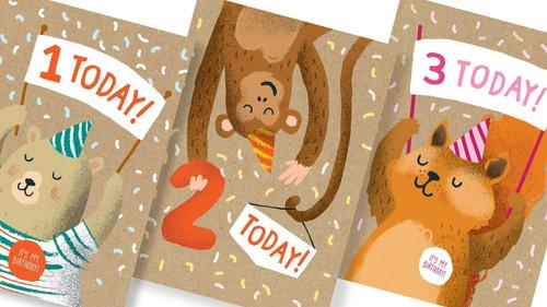 Gorgeous Kids Age Birthday Cards