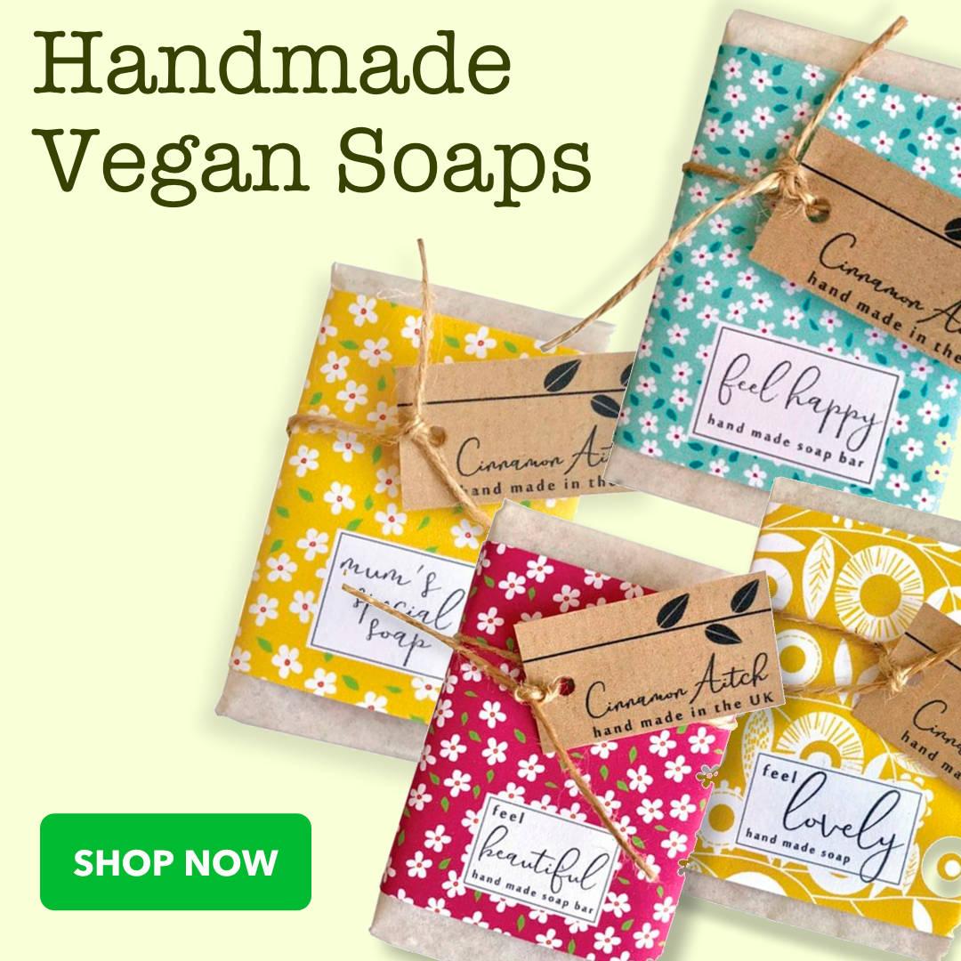 Handmade Vegan Soaps | Ideal Christmas Stocking Filler