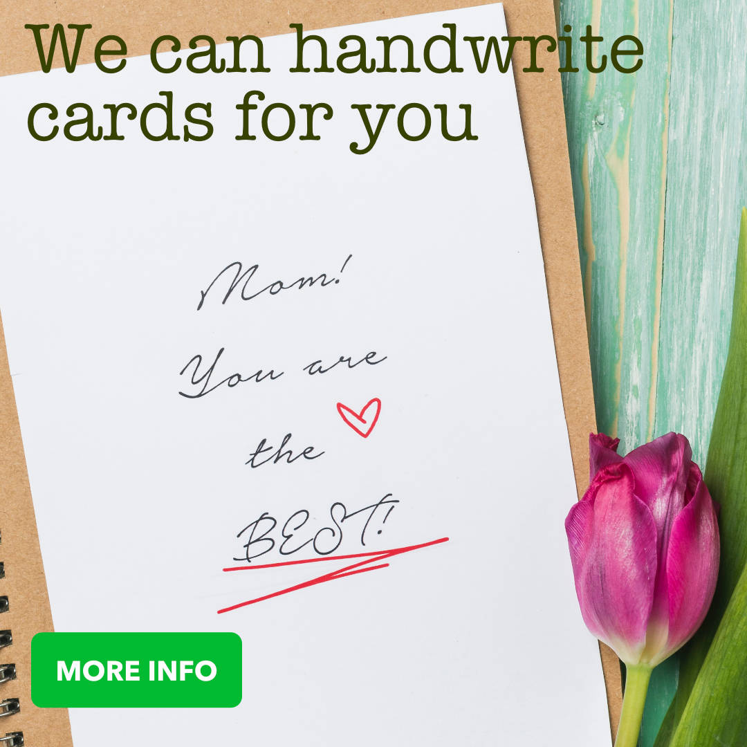 We offer a Handwritten Greeting Card service to make your greeting card that extra special