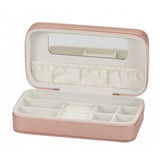 Mele 'Metallic' Jewellery Box with Mirror and Compartments