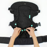 Infantino Flip Advanced 4-in-1 Convertible Baby Carrier - Black