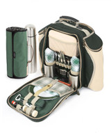 Greenfield Collection Super Deluxe Picnic Backpack Hamper with Blanket - 2 people